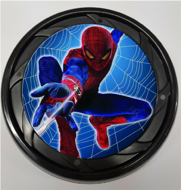 WHEELCHAIR & POWERCHAIR Personalised Spoke Guards SPIDERMAN WEB Design